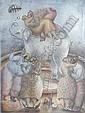 MAXIMINO JAVIER. Los enamorados. Firmado y fechado '92.  Litografía 32/50. 94 x 68 cm., Maximino  Javier, Click for value