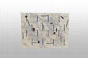"""Francisco Castro Leñero (México, 1954). """"Espacios ocupados"""". Serigrafía B/T. Firmada. Sin enmarcar. Dimensiones: 52 x 68.5 cm."""