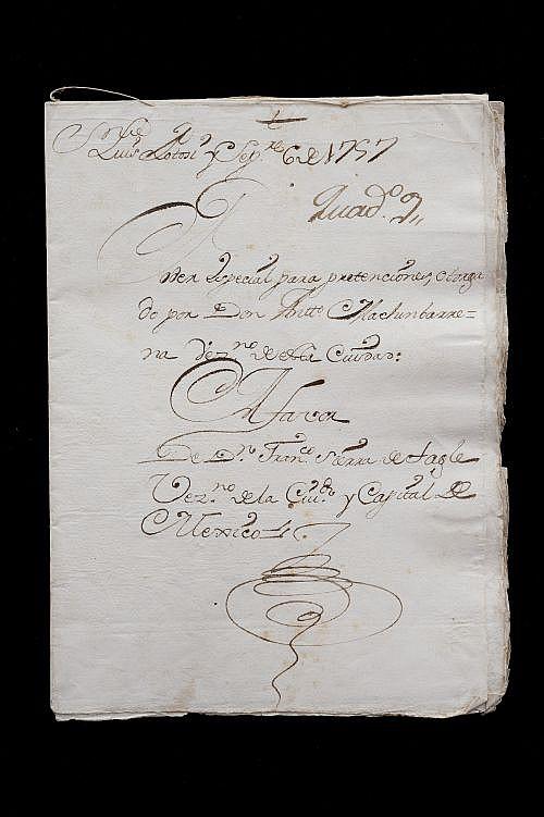 Faudua, Ygnacio Antonio / Cerda Mora, Francisco Xavier de la. Cartas Poder. San Luis Potosí y México: 1757 y 58. Piezas: 2.