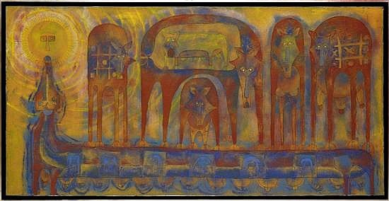 ROLANDO ROJAS, Sin título, 1999, Firmado. Tierra y óleo sobre tela, 100 x 200 cm, Con certificado de Galería Alberto Misrachi, 1999.