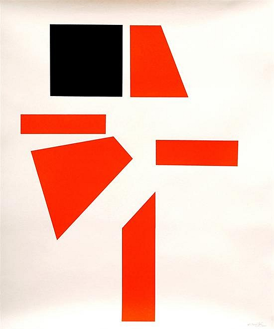 Salvador Corratgé, Collection chasing the square, signed adn dated 2004, serigraphy 27 / 34.