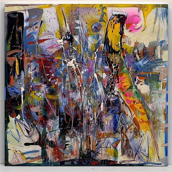 PABLO CASTILLO, Sin título, Firmado y fechado 2012. Óleo sobre tela, 120 x 120 cm