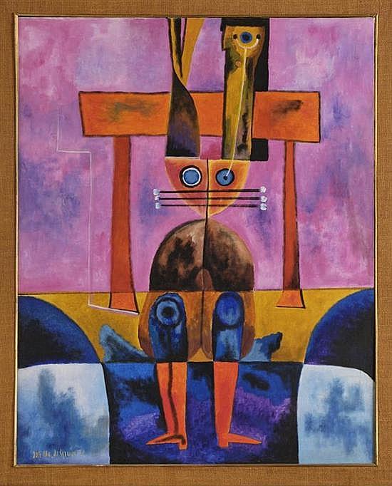 JOSÉ MARÍA SERVÍN, Sin título, Firmado y fechado 70. Óleo sobre tela, 99.5 x 79.5 cm