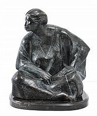SALVADOR JARAMILLO, Nayeli, Firmada y fechada 98. Escultura en bronce P / A, 40 x 33 x 33 cm, Con certificado del artista.