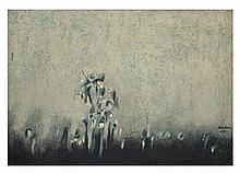 CARLOS NAKATANI, Vuelta, Firmado y fechado 1976. Óleo sobre tela, 50 x 70 cm, Morton Empeños