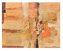 SEBASTIÁN CANOVAS, Sin título, Firmado. Acrílico y collage sobre tela, 80 x 100 cm