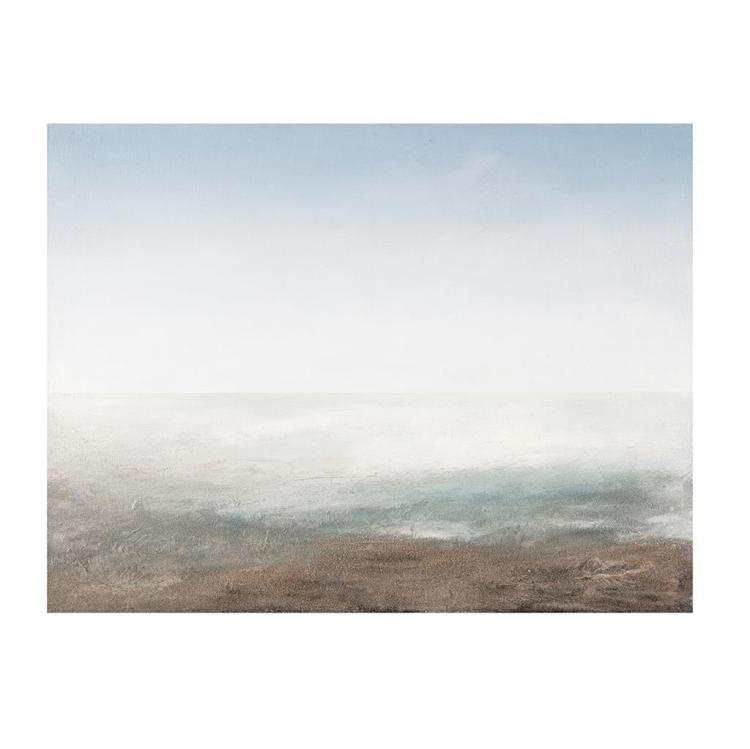 JUAN BERRUECOS, Cancún, Óleo y arena sobre tela sobre fibracel, 100 x 130 cm