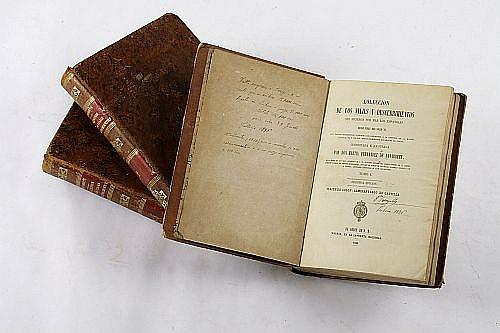 Fernández de Navarrete, M. Colección de los Viajes y Descubrimientos que Hicieron por Mar y Tierra los Españoles. Madrid: 1829, 58 y 59