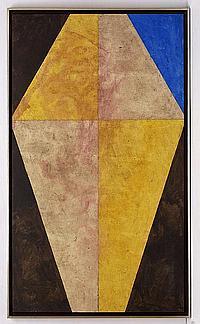 FRANCISCO CASTRO LEÑERO, Cometa, Firmado. Acrílico sobre tela, 160 x 92 cm