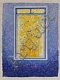 JUAN SORIANO, De la serie ventanas, Firmada y fechada 2005 a lápiz. Litografía. 80 x 61 cm