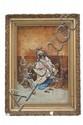 MUJER ÁRABE. ESPAÑA, CA. 1900. Óleo sobre tela. 70.5 x 46.5 cm