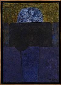 EDUARDO TAMARIZ M., Eclipse Lunar, Firmado y fechado 71. Óleo sobre tela, 50 x 35 cm