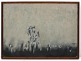 CARLOS NAKATANI, Vuelta, Firmado y fechado 1976. Óleo y arenas sobre tela., 50 x 70 cm, Vo.Bo. Mayra Nakatani.