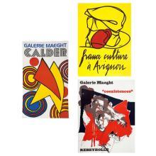 Calder, Alexander (1898 - 1976). Galerie Maegth.  Paris: Maegth Editeur, ca. 1970. Poster, color lithograph, 80 x 48...