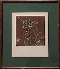 Lote de cuatro obras. a) Saúl Kaminer. (México 1952). Sin título. Firmado y fechado 93. Grabado 69 / 100. Enmarcado. Dimensiones: 25 x