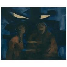 ENRIQUE ECHEVERRÍA, Eclipse, Signed, Oil on canvas, 80 x 100 cm / 31.4 x 39.3 inches