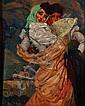 JOSÉ BARDASANO, Manolas, Firmado Óleo sobre tela, 100 x 80 cm, José Bardasano Baos, Click for value