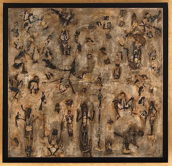 Sergio hernandez, Women,   Encaustica parchment,