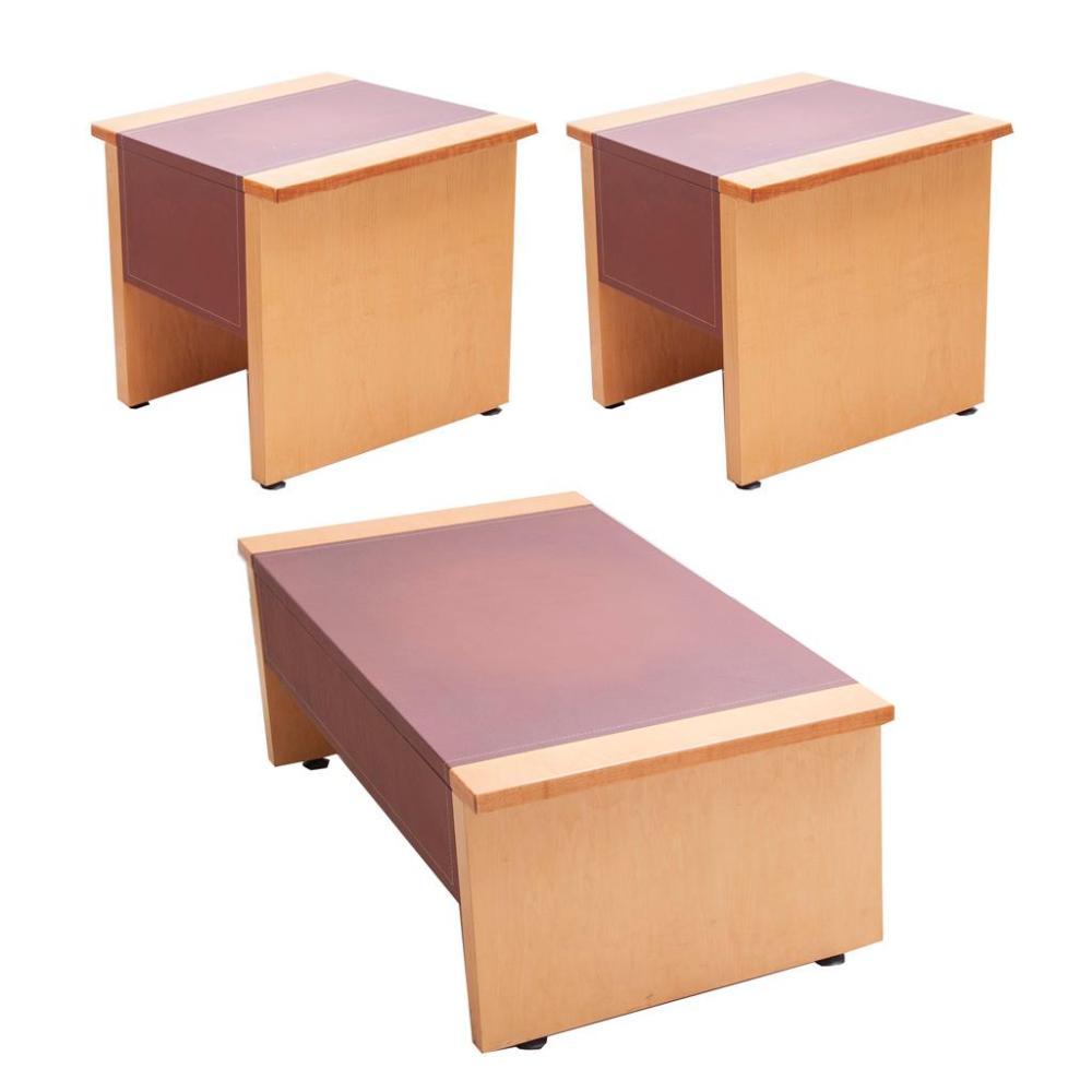 Lote mixto de muebles siglo xx estilo moderno dos mesas d for Muebles estilo moderno