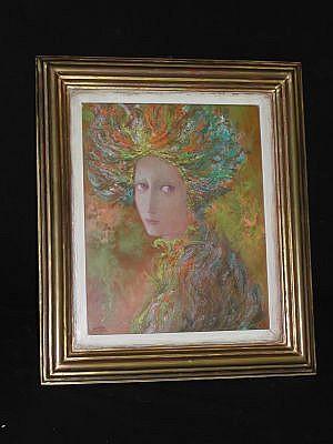 Adrián Tavera. Sin título. Sin título. Óleo sobre masonite, con marco de madera dorada. Dimensiones: 35 x 27 cm.