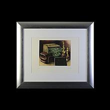 Eduardo Tamariz. Exclusión. Grabado, serie 17/100. De la carpeta de la Galería de Arte Mexicano, 50 aniversario