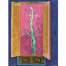 JUAN SORIANO, De la serie Ventanas, Firmada y fechada 2005, Litografía P . A . 3 / 12, 80 x 61 cm