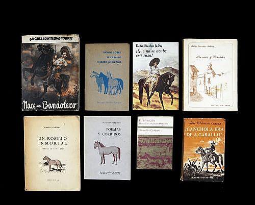 Novelas - Poemas y Dichos sobre Caballos. Autores Varios. Total de piezas: 8.