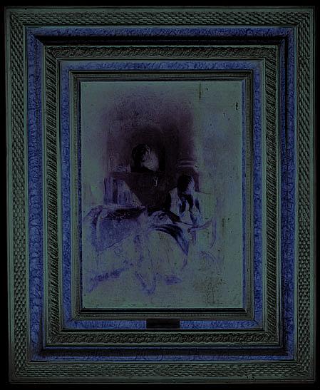 A la manera de Frans van Mieris (1689 - 1763). Escuela flamenca.  Anciana leyendo. Óleo sobre tablero. 40 x 28.5 cm.