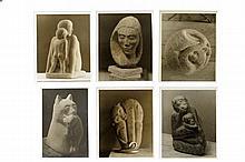 Flannagan, John B. Fotografías de Esculturas. 25 x 20 cm. Fotografías de esculturas femeninas, primates y gatos. Pzas: 6.