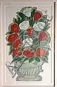 Carmen Parra. (México 1944). Flores. Firmada. Serigrafía 4 / 75. Enmarcada. Dimensiones: 89 x 60 cm., Carmen Parra, Click for value