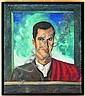 Roberto Montenegro (1885 – 1968) Retrato de Carlos arruza. Origen mexicano Firmado y fechado 68 Óleo sobre lienzo 80.5 x 70 cm., Roberto Montenegro, Click for value