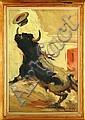 Carlos Ruano Llopis (1878 – 1950) Salida de Toriles Escuela española Firmado Óleo sobre lienzo 123 x 82 cm.