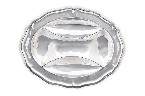 BOTANERO. MÉXICO, SIGLO XX. Elaborado en plata CONQUISTADOR, Sterling, Ley 0.925. Peso: 938.6 g