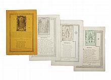 Invitaciones. Nuestra Señora de Guanajuato. Guanajuato: 1827 y 1828, 1837 y uno sin fecha. Con grabados.