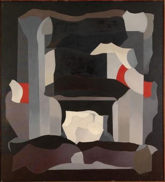 Luis López Loza, Serie gris y blanco, Firmado Óleo sobre tela, 90 x 100 cm