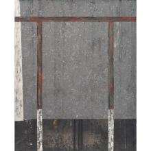 FRANCISCO CASTRO LEÑERO, Estructura necesaria, Firmado y fechado 1988, Óleo y acrílico sobre tela, 125 x 100 cm, Con certificado
