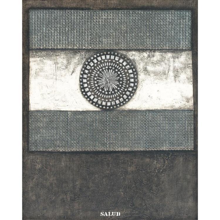 JOSÉ ANTONIO FERNÁNDEZ-MURO, Al gran pueblo de Argentina III versión, Firmada, Mixta y lámina sobre masonite, 154 x 123 cm