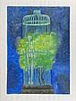 JUAN SORIANO, Sin título, Firmada y fechada 2001. Serigrafía III / XXX, 104.5 x 75 cm