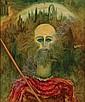 Sofía Bassi, Quijote, Firmado y fechado, 1983, Óleo sobre masonite, 58.5 x 48.5 cm, Sofía Bassi, Click for value
