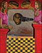 Rodolfo Morales, Custodia, Firmado, Óleo sobre tela, 100 x 80 cm, Con etiqueta de Galería Estela Shapiro, Rodolfo Morales, Click for value