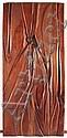 NAOMI SIEGMANN, Sin título, Firmada y fechada 1992. Talla en madera. Relieve en madera trabajado por ambas caras, 200 x 93 cm