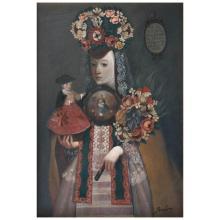 BENJAMIN DOMINGUEZ, Monja coronada, Signed, Oil on canvas, 79.2 x 54 cm / 28.7 x 21.2 inches.