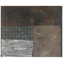 FRANCISCO CASTRO LEÑERO, Superficies intervenidas, 1985, Unsigned, Oil and sand on canvas, 100 x 120 cm / 39.3 x 47.2 inches.