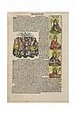 Schedel, Hartmann. Blat CXXVI (Hoja Incunable, en alemán). Nuremberg: Anton Koberger, 1493. 41 x 27.5 cm. Con 13 grabados coloreados.