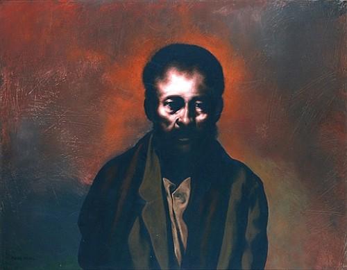 RAFAEL CORONEL, Retrato de un viejo, 1981, Firmado y fechado, Méx 81, Acrílico sobre tela, 70 x 90 cm.