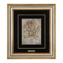 Domenico Chiraloza. Italia. Siglo XX. Placa en alto relieve. Girasoli. Copia basada en Van Gogh. Serie 266/499. Enmarcada.