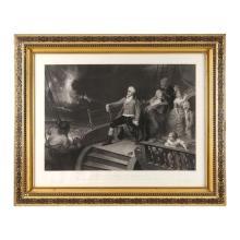 Edward Hamman. Garbado. Haydn se rendant Inglaterre. Impreso por P. Allais. Enmarcado.