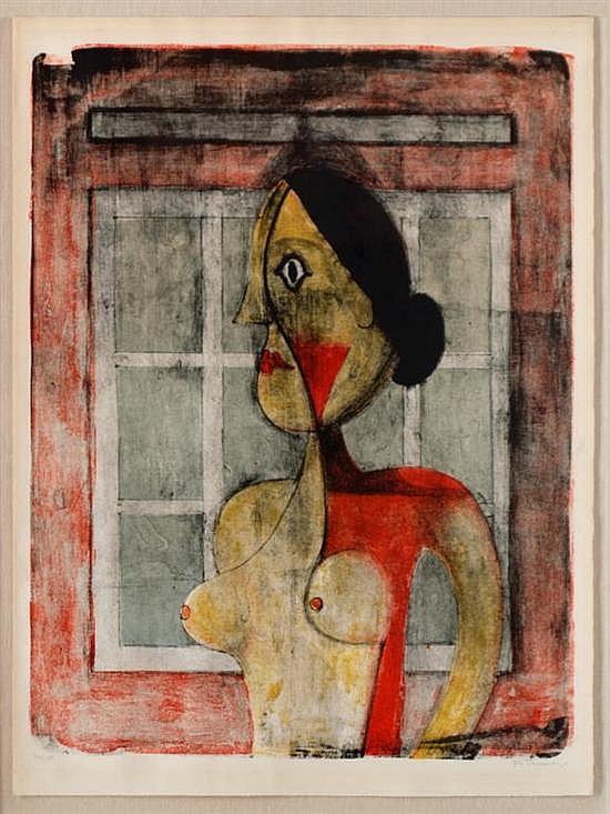 RUFINO TAMAYO, Retrato de mujer, 1969, Firmada, Litografía 116 / 150, 69 x 52.5 cm