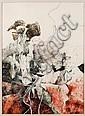 LUIS GRANDA, Obra no. 5, Firmado y fechado 80, Dibujo a lápiz y mixta sobre papel, 39.5 x 28.5 cm, Luis Granda, Click for value