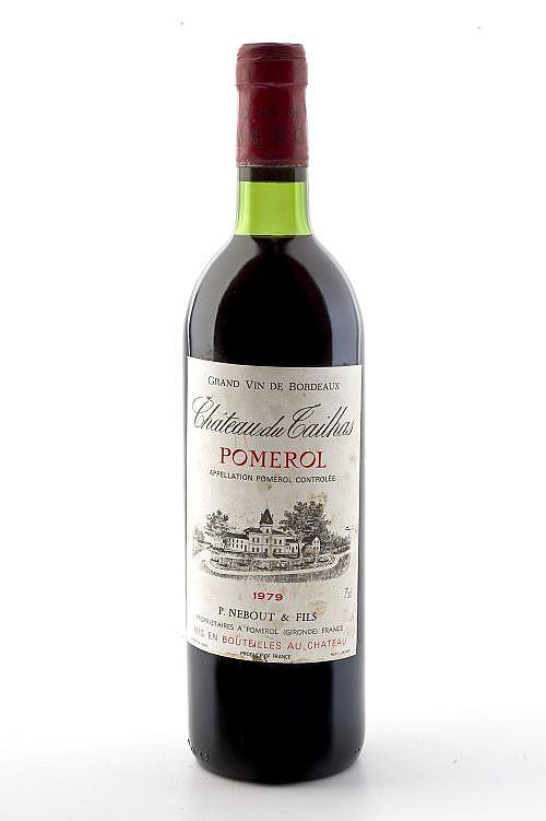 Chateau du Tailhas. Cosecha 1979. Grand Vin de Bordeaux. Pomerol. Nivel en el cuello.